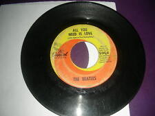 "Pop 45 Beatles  ""All You Need Is Love / Baby You're A Rich Man"" Capitol G+"