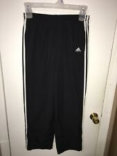 Euc Men's Adidas Windbreaker Basketball Athletic Lined Pants Black White Sz M