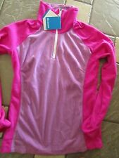 NEW COLUMBIA GLACIAL FLEECE III 1/2 ZIP  FLEECE SHIRT WOMENS M PINK FREE SHIP