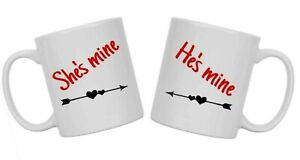 Matching PAIR of Valentine mugs, Ideal unique gift for for YOUR VALENTINE