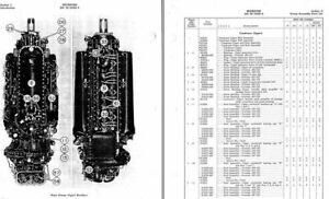 ROLLS ROYCE MERLIN & PACKARD PARTS MANUALS archive engine RARE DETAILS 1940's