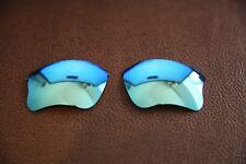 PolarLenz POLARIZED Ice Blue Replacement Lens for-Oakley Flak Jacket XLJ