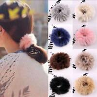 Lovely Fluffy Faux Fur Furry Scrunchie Elastic Hair Ring Rope Band Tie Unique