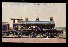 RAILWAY GER Four-Coupled Bogie Express #1900 Claud Hamilton PPC