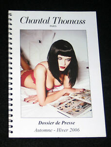 CHANTAL THOMASS DOSSIER PRESSE 2006 COLLECTION LINGERIE GUEPIERE BAS COLLANT