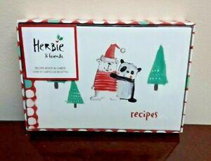 Herbie & Friends Panda & Polar Bear Recipe Card Holder Book Album Book + Bonus
