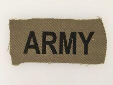 "Rhodesia/Rhodesian Army ""Army"" cloth flash- large type."