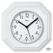Atlanta 47 Reloj de Cocina Pared Cuarzo Análogo Cerámica Blanca Octogonal 812