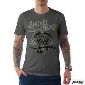 Rebel On Wheels Herren T-Shirt Tee Shovel Head Engine HD Motorrad
