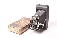 Kodak Junior Six-20 folding camera with Kodak Anastigmat f/6.3-100mm with box.