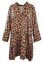 Damen Kleid Freizeitkleid Tunika 38 40 42 Beige Camel Animalprint Neu LI13080064