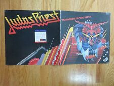JUDAS PRIEST Frontman ROB HALFORD signed DEFENDERS OF THE FAITH Record Flat PSA