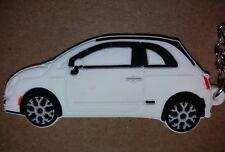 Blanco Fiat 500 KEYRING LLAVERO SCHLÜSSELRING Porte-clés CL Abarth doble factor