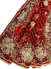 Vintage Heavy Dupatta Antique Women Bridal Long Scarf Embroidered Stole
