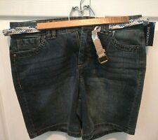 Bandolino Women's Salem Amalia Flawless Stretch Shorts Size 8 With Belt