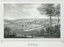 Gera-vista general-Saxonia-litografía 1834/1835