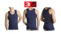 Bonds Mens 3 Pack Chesty Bond Cotton Singlets sizes Small Large XL Colour Navy