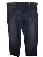 Tommy Hilfiger Whiskered Blue Jeans Mens Size 42/30 Dark Wash Denim Straight