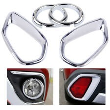 ABS Chrome Front Rear Fog Light Cover Trim Fits MITSUBISHI Outlander 2016 2017