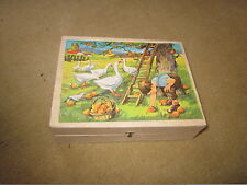 Six PUZZLES in One Country Scenes Animals w 12 Cubes