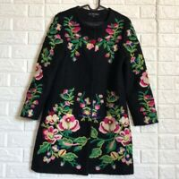 Cl. Chaliner embroidered floral wool coat