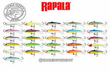 Rapala Jigging Rap Ice Jig Panfish Bass Crappie Perch W2 1-1/4 in 1/8oz - Pick