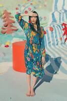 🌈 Gorman River Of Love Cotton Long Dress Size 14 🌈