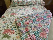 Vtg Croscill Dynasty Queen Comforter Set-4 Piece-Reversible Floral