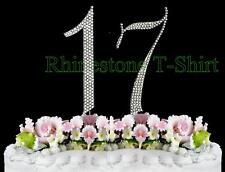 Large Rhinestone Cake Topper NUMBER (17) WEDDING 17th Birthday  Anniversary