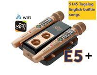 2020 MAGIC SING Karaoke E5+ 5000+ Tagalog/Eng songs WiFi 2 Wireless Mic 1YR sub