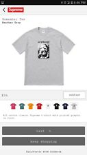 Supreme Remember Tee Grey Medium Sold Out DeadStock FW18