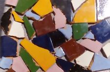 10 Pounds of Broken Talavera Mexican Ceramic Tile in Solid Color Tiles #002