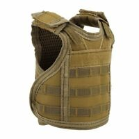 Outdoor Tactical Mini Vest Beer Water Bottle Molle Vest Pouch Holder Vest TAN