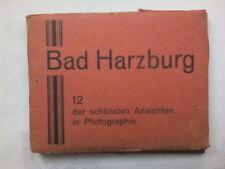 BAD HARZBURG GERMANY.MINI PHOTOGRAPH SET,12 DELUX,1940-50 ?,SCHONSTEN ANSICHTEN