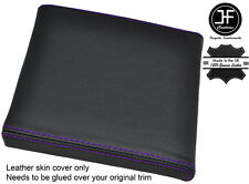 PURPLE STITCH CONSOLE CUBBY BOX LID LEATHER COVER FITS RANGE ROVER P38 1994-2002