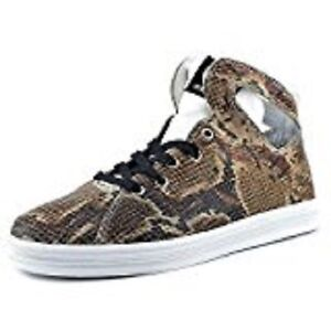 Gourmet Women's Uno SP Round Toe Leather Sneakers Brown White/Snake Skin Size 8