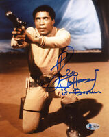 HERBERT JEFFERSON SIGNED 8x10 PHOTO LT. BOOMER BATTLESTAR GALACTICA BECKETT BAS