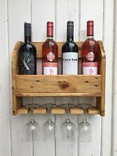 Estante del vino Hecho a Mano De Madera Reciclado Pallet