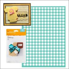 Cuttlebug embossing folders - Gingham 5 x 7 folder baby plaid checkers