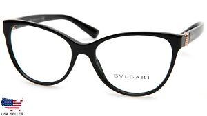 NEW BVLGARI 4151 501 BLACK EYEGLASSES GLASSES FRAME 54-16-140 mm B44 mm Italy
