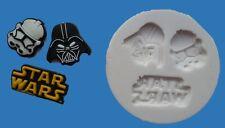 Star Wars 006 Molde de silicona para tarta DECORACIÓN,chocolate,ARCILLA etc.