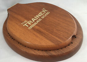 """Cribbage Board Toilet Seat The Trainer Wooden Oval 4 Pegs Wood Vintage 8"""" x 6"""""""