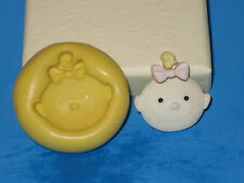 Baby Girl Push Mold Mould Silicone Topper Chocolate Resin Clay A323 Sugarcraft