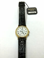 Orologio movado watch telemeter SWISS pelle nera 8707860 WATCH black LEATHER