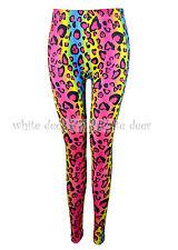 Juniors' Skinny Rainbow Leopard Cheetah Print Leggings Stretchy Jeggings