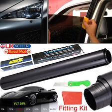 CAR WINDOW TINT FILM TINTING HOME VAN LIMO 25% BLACK DARK SMOKE 50CMx3M PRO KIT