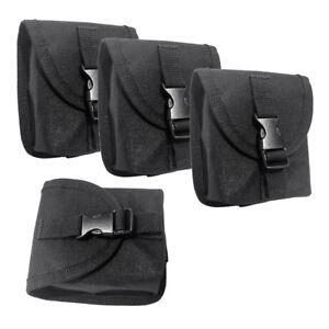4 Stück Schwarz Weight-Tasche Bleitaschen Tauchtaschen für Herren Damen