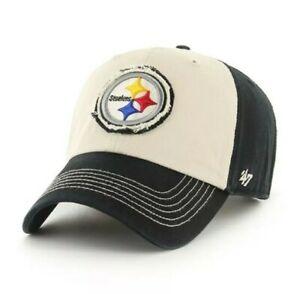 Pittsburgh Steelers adjustable hat cap NFL '47 clean up logo black nwt new
