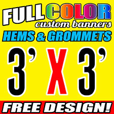 Personalised Outdoor Vinyl Banner Sign - 914 MM x 914 MM- Custom Made