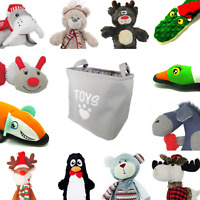 Rosewood Festive Winter Dog Toys Bags Tough, Cuddle and Interactive